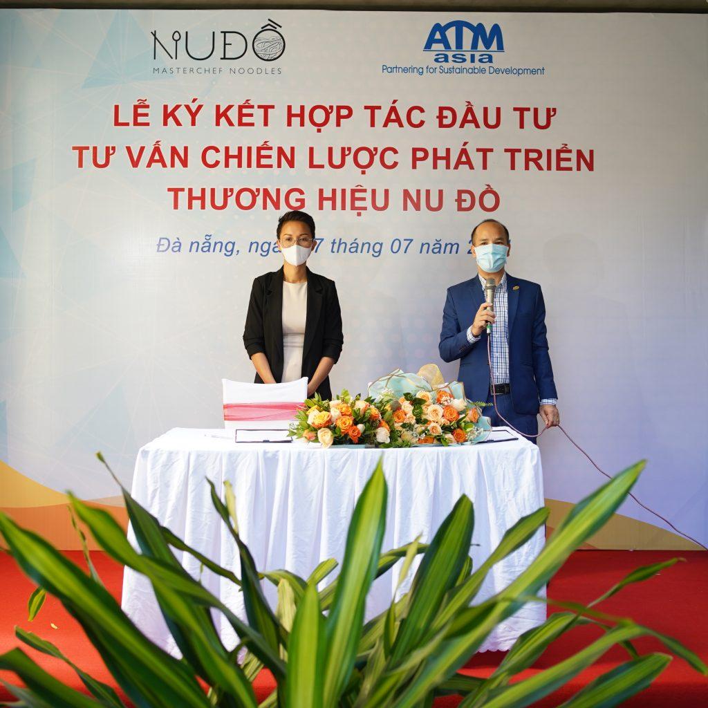 Ths. Trần Xuân MỚI - Founder/CEO ATM Asia phát biểu tại buổi lễ ký kết hợp tác.